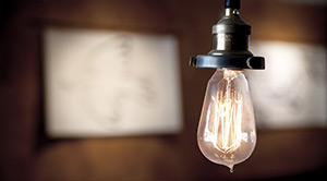 Edison light hanging